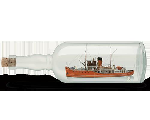 UK Pension transfer Boat in Bottle