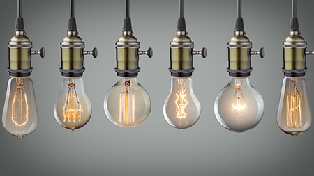 Investor basics lightbulbs