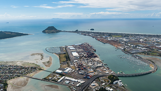 secondary port ot tauranga safe harbour